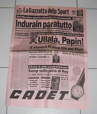 La Gazzetta dello Sport GIRO D'ITALIA 1992 INDURAIN paratutto 11 giugn Miguel