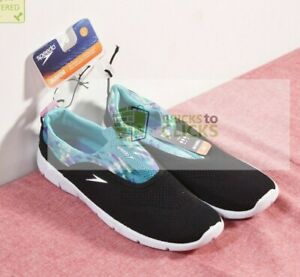 Speedo- Junior Aquaskimmer Girls Water Shoes - Black, Size Large 4-5