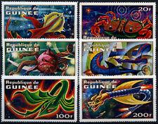 Guinea 1972 SG#768-773 Imaginary Space Creatures MNH Set #D58843