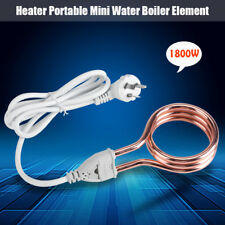 1800W 250V Heater Electric Hot Water Immersion Element Boiler Travel Home Use SG