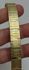 Gold over Sterling Silver 925 Italy Star Etched Bracelet (23g)
