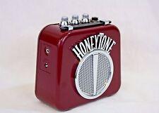 Honeytone N-10 Guitar Mini Amp w/Overdrive & Belt Clip, Burgundy