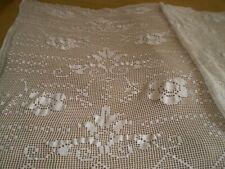 Stunning  Handmade Cotton Crochet Coverlet bedspread lace