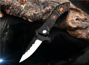 Outdoor stainless folding knife Hunting Hiking Camping pocket sharp knife F44