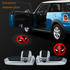 Wireless The Deadpool Symbol Logo Car Door Projector Charger Ghost Shadow Light