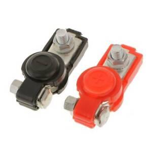 2x Auto Car Adjustable Battery Terminal Clamp Clips Positive Negative Universal