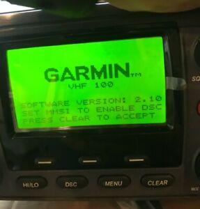 Garmin VHF 100 radio marine receiver complete radio excellent, mic not SOLD ASIS