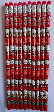 HELLO KITTY PENCILS WITH ERASER - PARTY LOOT BAG FILLERS GAME PRIZE - PACK OF 10