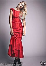 NEW Free People Special Edition Red Taffeta Mermaid Ruffled Maxi Gown Dress 4