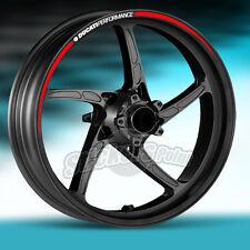 kit Adesivi 2 ruote moto DUCATI PERFORMANCE strisce RACING10 stickers wheels