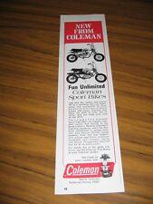 1971 Print Ad Coleman Sport Trail Mini-Bikes Somerset,PA