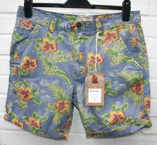 Mens BRAVE SOUL Malibu Chino Shorts Blue Hawaiian Print Size: M NEW RRP £35