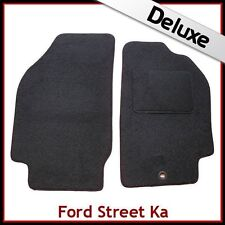 Ford Street Ka Convertible 2002-2006 Tailored LUXURY 1300g Carpet Mats BLACK