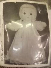 """Wil-Mar Creations Vtg NEW Adorable Soft 14.5"""" Christening Baby Doll Sewing Kit"""