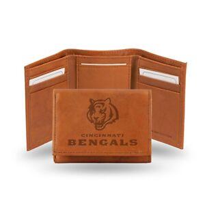 Cincinnati Bengals NFL Embossed Leather Trifold Wallet ~ New