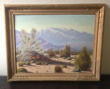 Vtg 1964 Southwest Desert Oil Painting BILL HAGER Palm Springs, CA Listed Artist