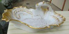 Antique KPM German Porcelain Serving Dish Gold Trimmed