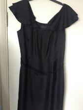 Used Coast Woman Black Dress, Size 12, Silk