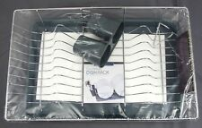 Kitchen Details Countertop Iron Dish Rack w/ Draining Tray & Cutlery Holder Grey