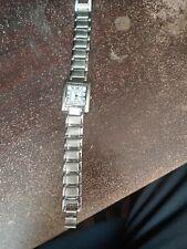 Capella Watch Women's Stylish Silver-Toned Rectangular Face Wristwatch