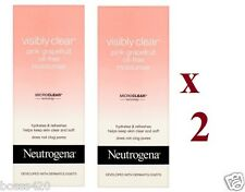 2 x Neutrogena Visibly Clear Pink Grapefruit Oil-Free Moisturiser 50ml Each