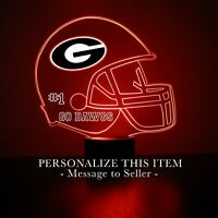 U of Georgia - Bulldogs Football Personalized FREE Light Up 3D Illusion LED