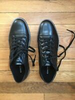 Brand New Kenneth Cole Mens Initial Step Black Fashion Sneaker Size 8.5 (465505)