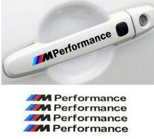 4 pcs Pegatinas sticker BMW M Performance bandera colores azules y rojo 10 cm