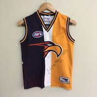 West Coast Eagles Guernsey Sekem 2010 AFL Jumper Signed Autograph Youth Boys 8