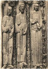 Postcard France Chartres Cathedral Royal Portal II Roi et Reines de Juda Unused