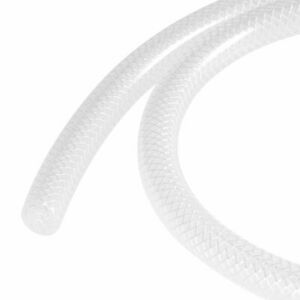 6mm ID 3mm Wall Thick Reinforced Silicone Tubing 1m White