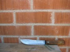 "Vintage 6"" Blade *** ONTARIO --- Tru-Edge *** X-Small Carbon Butcher Knife USA"