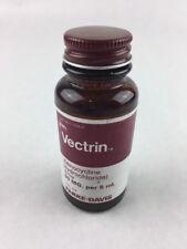 """Vintage Vectrin Syrup Pharmacy Empty Medicine Bottle 3.75"""" Parke Davis"""