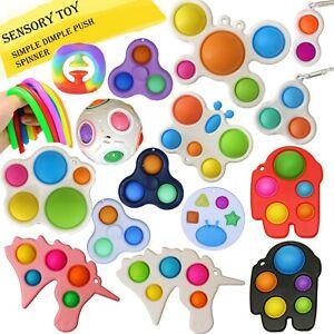 Pop it Fidget Toy Push Simple Dimple Bubble Sensory Spinner Push Stress Relief