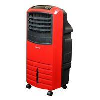 Cooler Portable Evaporative 3-Speed Red Cellulose 300 sq. ft. Casters 1000 CFM