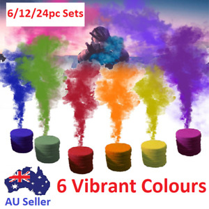 6X Colour Smoke Effect Round Bomb Stage Party Show Photography Cake Props Kit