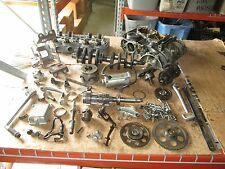 73 Honda CB750 Cylinder Head Crankshaft Crankcase Flywheel Kick Pedal Parts Lot