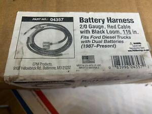 "NEW Ford Dual Battery Cable DEKA 04357 2/0 Ga 87-05 Super Duty 116"" EPM Positive"