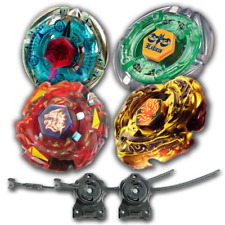 Beyblade 4Pk Flame Byxis+Meteo Rush Red+L Drago Gold+Flame Libra w/ LL2+ RipCord