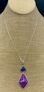 Barse Kenzie Necklace- Purple Turquoise & Lapis- Sterling Silver- NWT