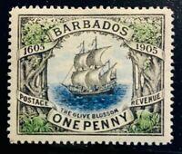 BARBADOS - SCOTT #109 - MINT, ORIGINAL GUM - LIGHTLY HINGED - XF-SUPERB