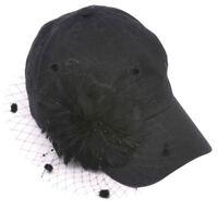 Womens Fashion Baseball Cap w/ Veil