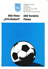 "DDR-Liga 80/81 bsg motor ""Fritz Heckert"" Karl-Marx-Stadt-ASG hacia adelante opinamos"