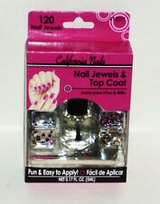 Nail Jewels & Top Coat California Nails Jewel Set 4 Style Jewels Easy To Apply