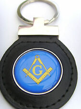 FREEMASONRY MASONIC COMPASSES LEATHER KEYFOB FOB GIFT