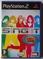 Disney sing it! jeu de karaoke PS2 Miley Hannah camp rock neuf et scellés royaume-uni!
