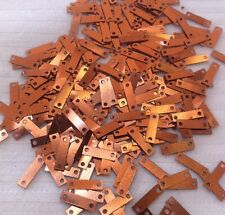 Sequins Gingerbread Copper 9mm x 3mm Metallic Baguette Rectangle Rare Quality