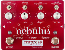 NEW EMPRESS EFFECTS NEBULUS CHORUS / FLANGER / VIBE PEDAL w/ CABLE 0$ US S&H