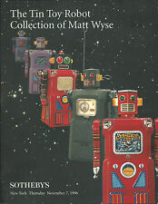 RARE - SOTHEBY'S Tin Toy Robot Space Matt Wyse Collection Auction Catalog 1996