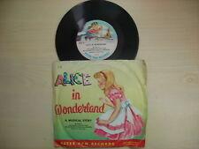 RARE Peter Pan Records ALICE IN WONDERLAND 78rpm 1952